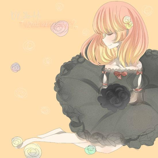 洛小小奥比岛板绘秀作品--玫瑰公主